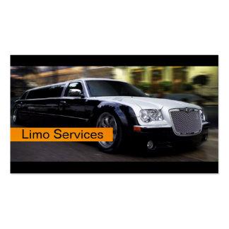 Limusinas, serviços de Limo, cartão de visita do