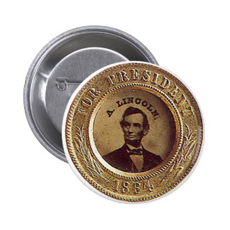 Lincoln - botão bóton redondo 5.08cm