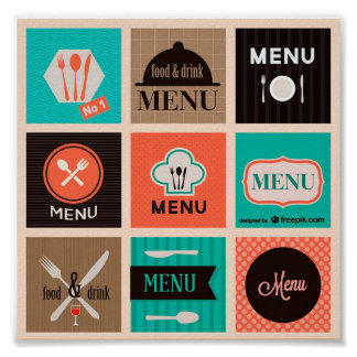Lindo Poster Decorativo Menu Food