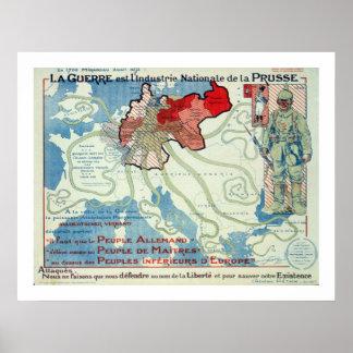 l'Industrie Nationale de la Prusse de Guerre est d Poster