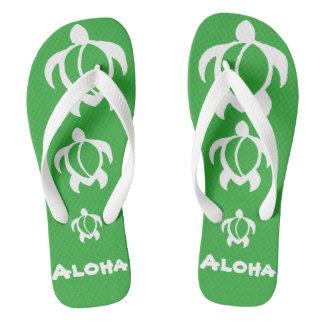 """LineA """"Aloha"""" Honu branco Chinelos"""