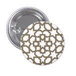 Línea dorada marroquí de mosaico en azulejos bóton redondo 2.54cm
