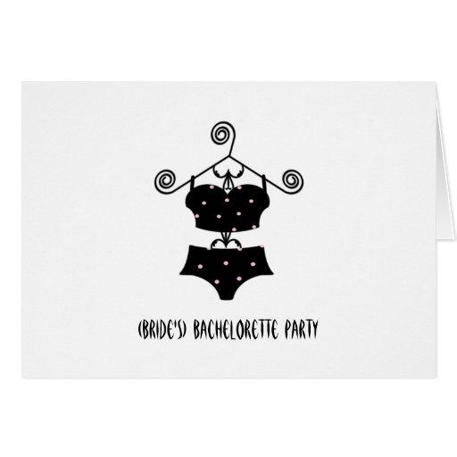 """Lingerie Convidar-""""sexy"""" da festa de solteira feit Cartoes"""
