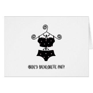 """Lingerie Convidar-""""sexy"""" da festa de solteira feit Cartão Comemorativo"""