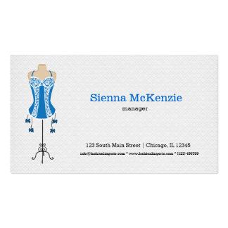 Lingerie da forma (azul) modelo cartoes de visita