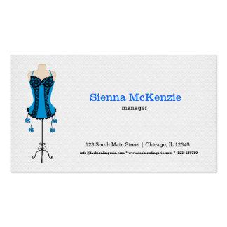 Lingerie da forma (azul) cartao de visita