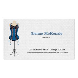 Lingerie da forma (azul) cartão de visita