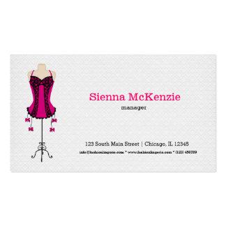 Lingerie da forma (rosa) cartão de visita
