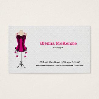 Lingerie da forma (rosa) cartão de visitas