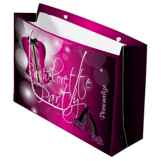 Lingerie glamoroso Bachelorette  Hot Bokeh Sacola Para Presentes Grande