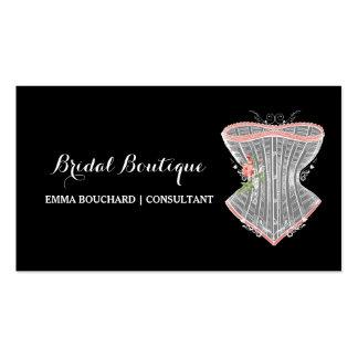 Lingerie nupcial elegante do espartilho do vintage cartão de visita