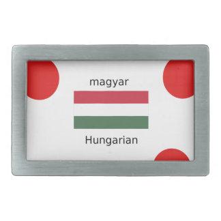 Língua de Hungria e design da bandeira