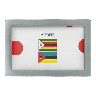 Língua de Shona e bandeiras de Zimbabwe e de