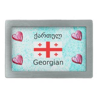 Língua e design Georgian da bandeira