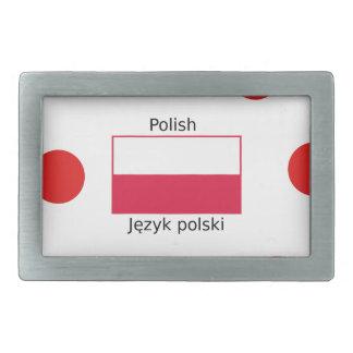 Língua e design poloneses da bandeira do Polônia