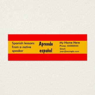 Língua espanhola de ensino -- Cartões de