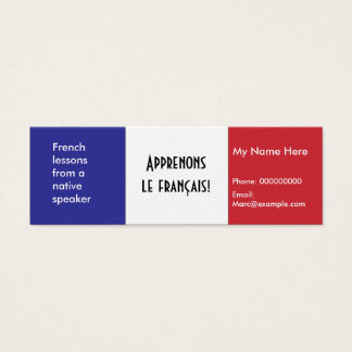 Língua francesa de ensino -- Cartões de propaganda