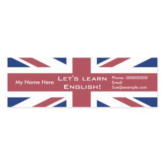Língua inglesa de ensino -- Cartões de propaganda Cartão De Visita Skinny