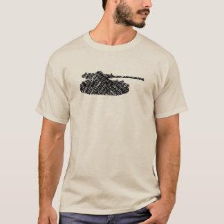Língua militar do alfabeto fonético de tanque de camiseta
