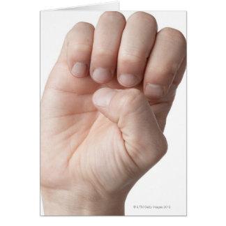 Linguagem gestual americano 14 cartão