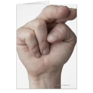 Linguagem gestual americano 16 cartao