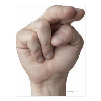 Linguagem gestual americano 16 cartoes postais