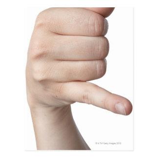 Linguagem gestual americano 17 cartões postais