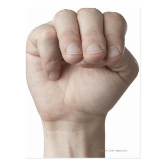 Linguagem gestual americano 18 cartão postal