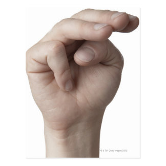 Linguagem gestual americano 19 cartao postal