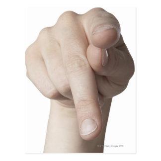 Linguagem gestual americano 20 cartao postal