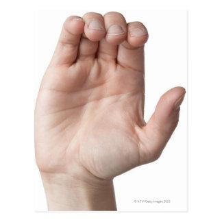 Linguagem gestual americano 21 cartão postal