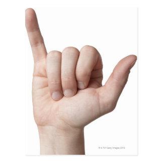 Linguagem gestual americano 22 cartão postal