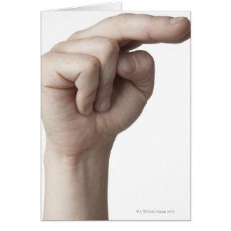 Linguagem gestual americano 23 cartão
