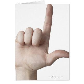 Linguagem gestual americano 25 cartoes