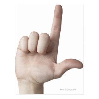 Linguagem gestual americano 25 cartão postal