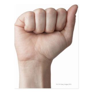 Linguagem gestual americano 26 cartão postal