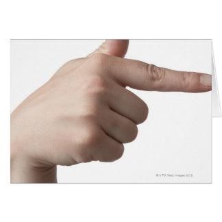 Linguagem gestual americano 28 cartão