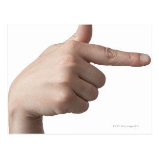 Linguagem gestual americano 28 cartão postal