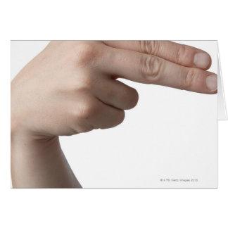 Linguagem gestual americano 4 cartao