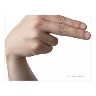 Linguagem gestual americano 4 cartões postais