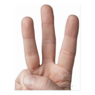 Linguagem gestual americano 6 cartão postal