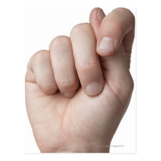 Linguagem gestual americano 9 cartão postal