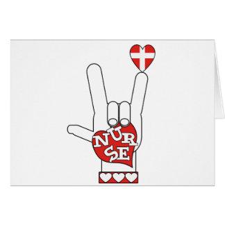 Linguagem gestual do ASL eu te amo - ENFERMEIRA do Cartoes