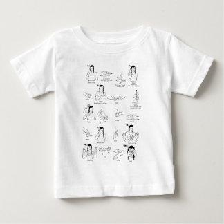 Linguagem gestual do nativo americano camiseta para bebê
