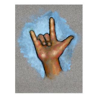 Linguagem gestual: Eu te amo: Mão no Pastel
