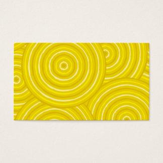 Linha aborígene pintura cartão de visitas