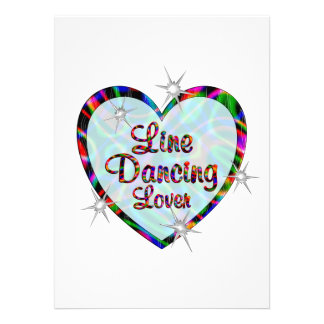 Linha amante da dança convites