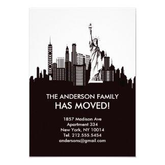Linha anúncio movente do céu da Nova Iorque