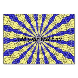 Linha azul & amarela do teste padrão médio