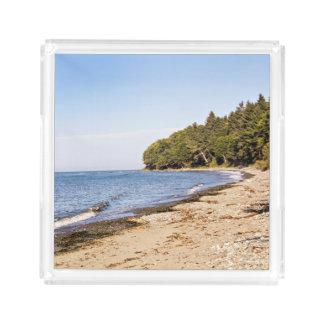 Linha bandeja da costa da praia do serviço da